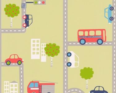 Dětské tapety pro kluky a holky Silnice zelená