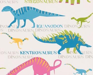 Dětské tapety pro kluky a holky Dinosauři modrá
