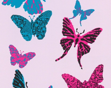 Dětské tapety pro kluky a holky Motýlci fialová