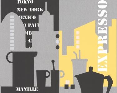 Výsledek hledání ceny pro: Tapety na zeď Manhatten Expresso šedo ...