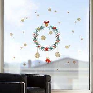 Vánoční dekorace na okno Věnec