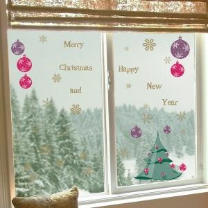 Vánoční dekorace Vánoční stromeček na okno